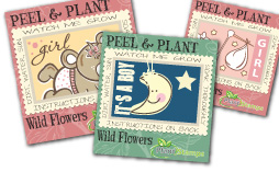 plant stamps baby stickers