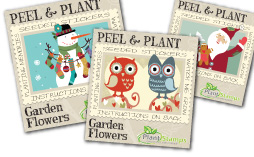 plant stamps holiday stickers