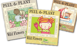 plant stamps kid stickers