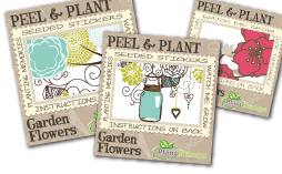 plant stamps wedding stickers